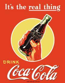 COKE REAL THING - BOTTLE