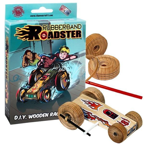 Rubberband Roadster Wooden Racecar Kit