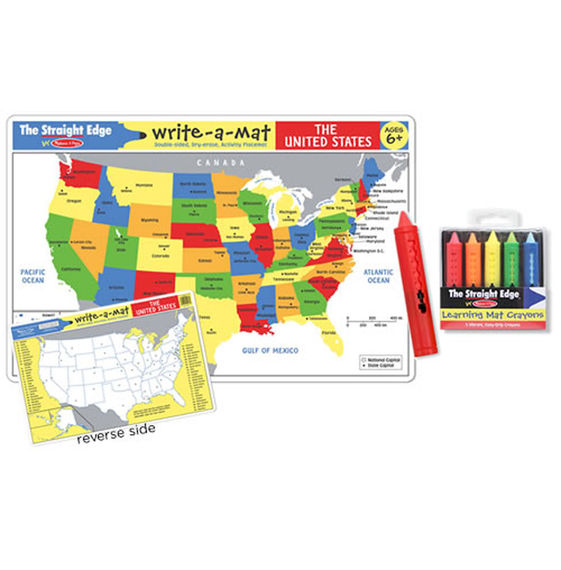Usa Map Puzzles Online.U S A Map Learning Map With Wipe Off Crayons Dutch Country