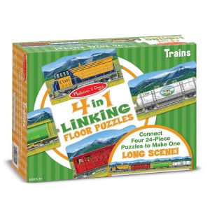 Trains Linking Floor Puzzle