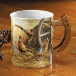 Autumn Glow – Pheasants Sculpted Coffee Mug