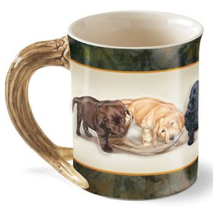Bad Boys – Puppies Sculpted Coffee Mug