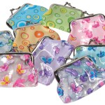COIN PURSES DOTS AND BUTTERFLIES