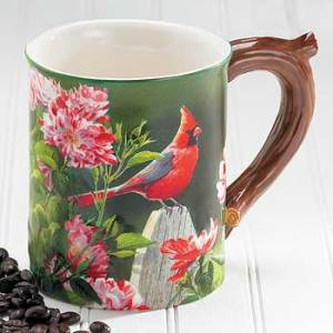 Garden Gateway – Cardinal Sculpted Coffee Mug