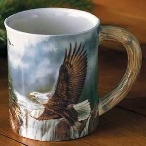 Majestic Flight – Bald Eagle Sculpted Coffee Mug