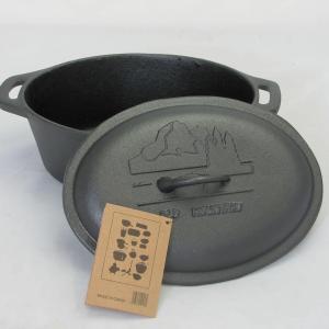 cast iron casserole with lid 10.5x8.5x4
