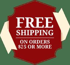 Free Shipping 25 minimum