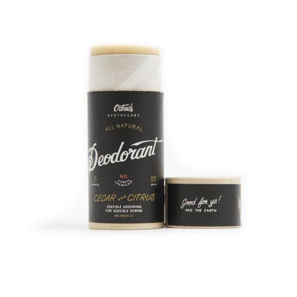 O'Douds All Natural Deodorant – Cedar & Citrus