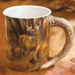 Rustic Retreat Whitetail Sculpted Coffee Mug