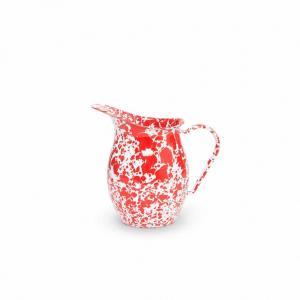 Red Splatter 1.5 quart Small Pitcher