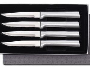 4 Serrated Steak Knives Silver