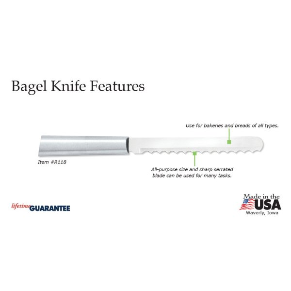 Bagel Knife Silver