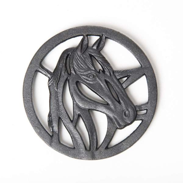CAST IRON TRIVET HORSE