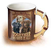 Together We Have It All Sculpted Coffee Mug