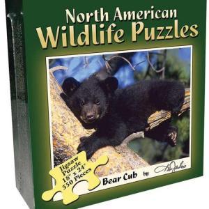 North American Wildlife Jigsaw Puzzle - Bear Cub