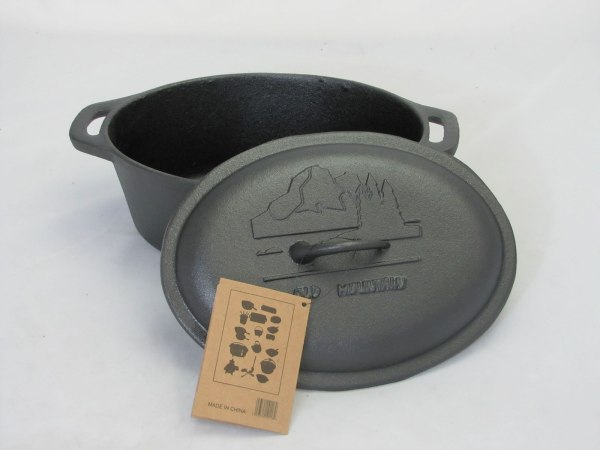 cast iron casserole with lid 10.5×8.5×4