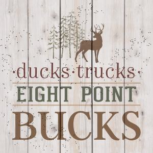 Ducks Trucks Eight Point Bucks Pallet Decor