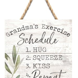Grandma's Exercise Schedule String Sign