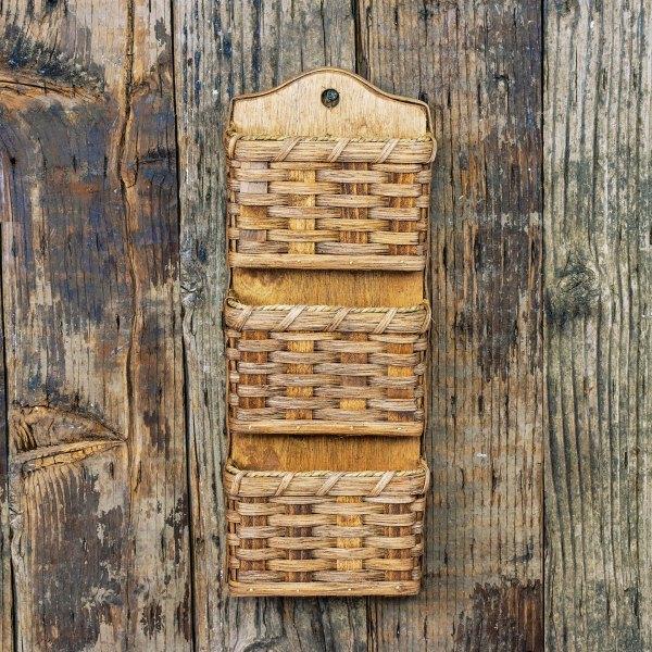 3 Pocket Mail Basket Brown