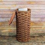 4 Roll Toilet Paper Basket Brown