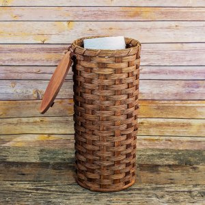4 Roll Toilet Paper Basket Brown