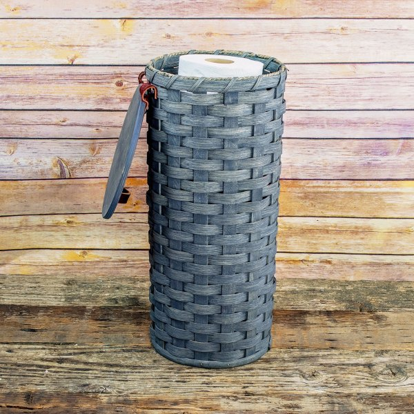 4 Roll Toilet Paper Basket Gray