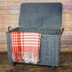 Large Blanket Basket Lid Gray
