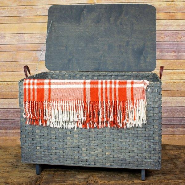 Medium Blanket Basket Lid Gray