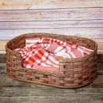 Extra Small Dog Bed Basket Brown