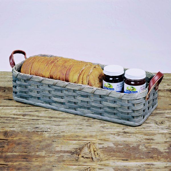 French Bread Basket Gray