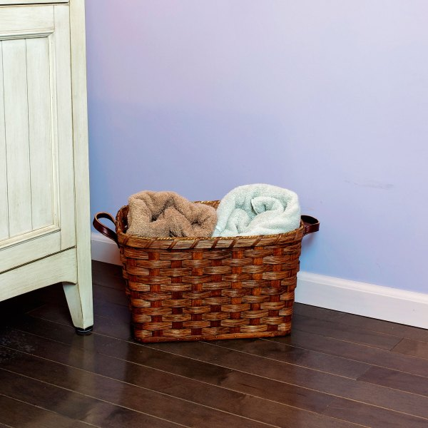 Small Laundry Basket Brown