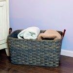 Large Laundry Basket Gray