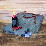 Medium Picnic Basket Tray Gray