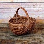 Small Regular Egg Basket Brown
