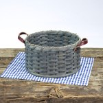 Round Paper Plate Basket Gray