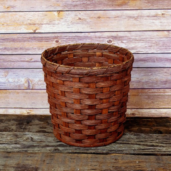 Large Round Waste Basket Brown