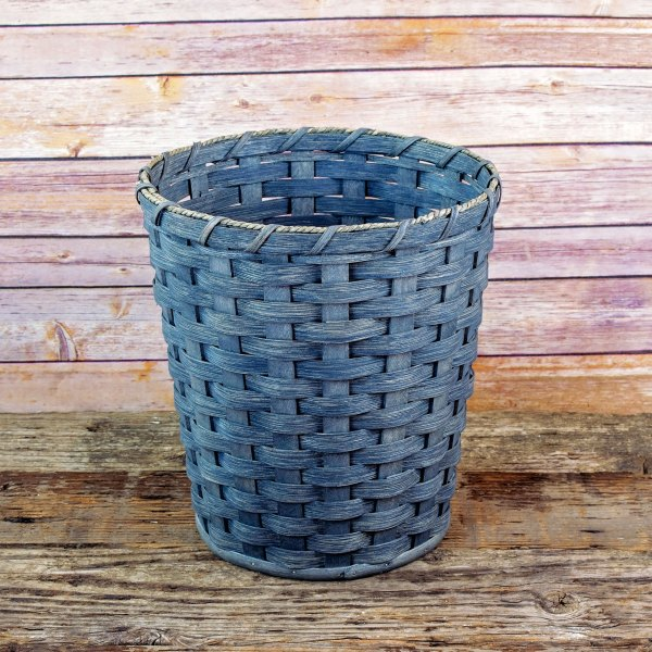 Large Round Waste Basket Gray
