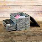 Medium Sewing Chest Drawer Basket Gray