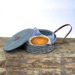 Single Pie Basket Gray