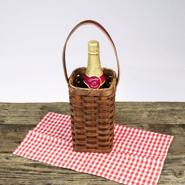 Single Wine Basket Brown
