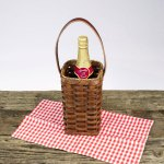 Single Wine Basket Brown