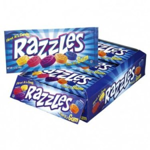 Razzles Candy Chewing Gum