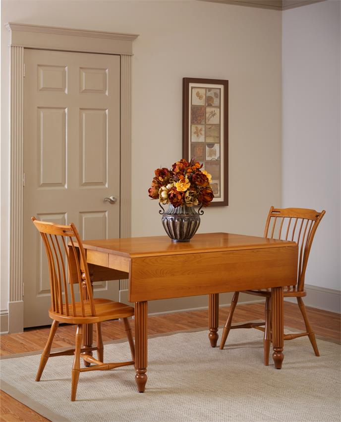 Amish Square Drop Leaf Extension Dining Room Table