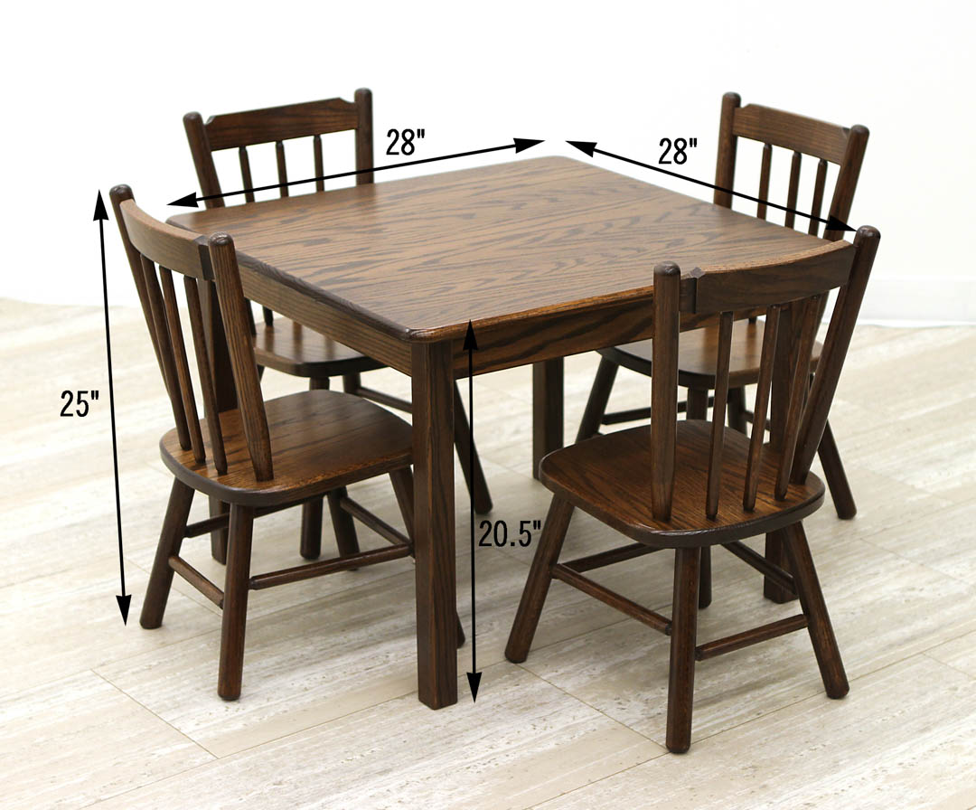 Child S Table 4 Chairs Set Dutch Craft Furniture