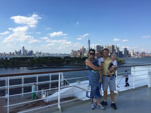 QM2 in dock in NYC.