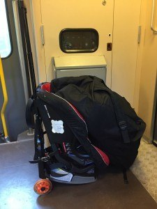 Car Seats on a Train