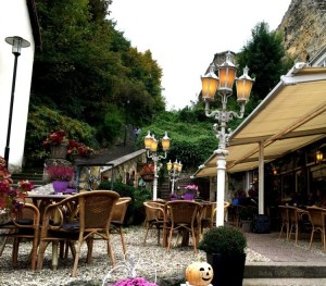 Valkenburg Cafe at base of the castle