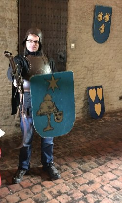 Dad the Knight at Slot Loevestein
