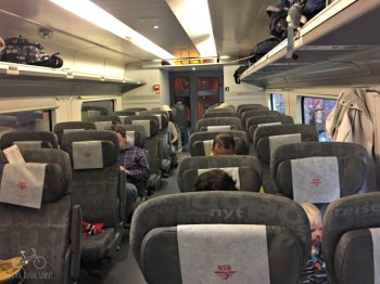Family Car on Bergen Train