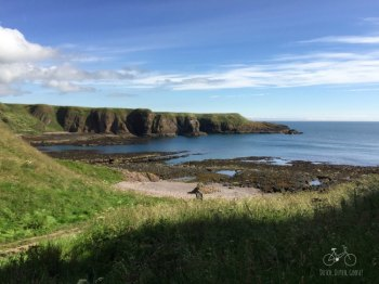 Beach at Dunnottar Castle